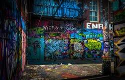 En el callejón de la pintada, Baltimore, Maryland Imagen de archivo libre de regalías
