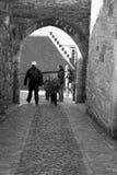 En el camino castillo de Edimburgo Fotos de archivo