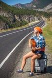 En el camino con música Foto de archivo libre de regalías