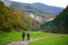 En el camino de las montañas Fotografía de archivo libre de regalías
