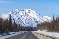 En el camino a Fairbanks Imagen de archivo