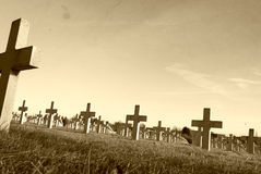 en el campo de batalla de la Primera Guerra Mundial Francia de Vimy Imágenes de archivo libres de regalías