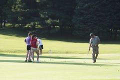 En el campo de golf Imágenes de archivo libres de regalías