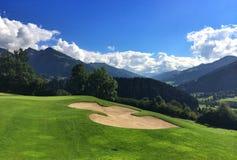 En el campo de golf Imagen de archivo libre de regalías