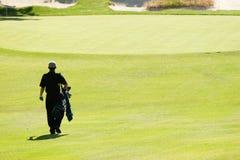 En el campo de golf Fotos de archivo libres de regalías