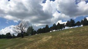 En el campo de golf en el sunsrise