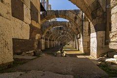 En el centro de la ciudad antigua del ágora de Smyrna, fotos de archivo libres de regalías