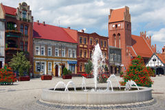 En el centro de Polonia Imagenes de archivo