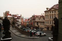 En el centro de Praga Foto de archivo libre de regalías