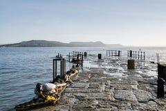 En el Cobb - el Lyme Regis fotos de archivo libres de regalías