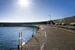 En el Cobb - el Lyme Regis fotografía de archivo libre de regalías
