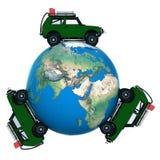 En el coche en todo el mundo Foto de archivo libre de regalías