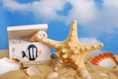 En el concepto de las vacaciones de verano de la playa Fotos de archivo libres de regalías
