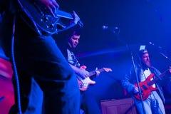 En el concierto de rock Fotografía de archivo