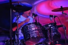 En el concierto de rock Foto de archivo libre de regalías