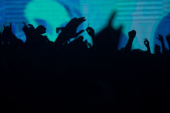 En el concierto del techno Fotografía de archivo