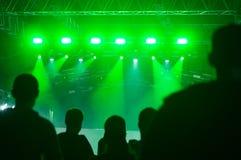 En el concierto del techno Foto de archivo