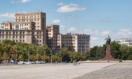 En el cuadrado de la libertad en Kharkov Fotos de archivo