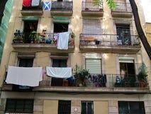 En el cuarto gótico de Barcelona Imagenes de archivo
