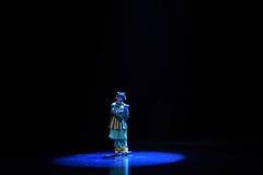 """En el  del teenager†de Pekín Opera""""Yue de los lectura-niños del claro de luna Fotos de archivo libres de regalías"""