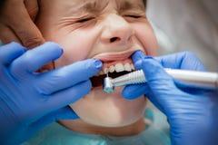 En el dentista Imagen de archivo libre de regalías