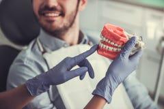 En el dentista fotografía de archivo
