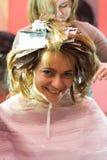 En el estilista de pelo Imagen de archivo libre de regalías