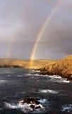 En el extremo del arco iris Foto de archivo libre de regalías