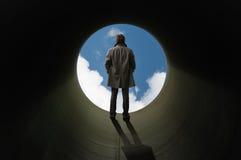 En el extremo del tubo Foto de archivo libre de regalías