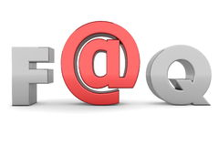 EN EL FAQ - Gris y rojo Imagen de archivo libre de regalías