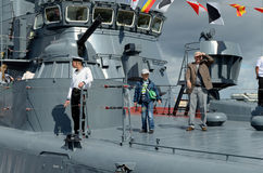 En el festival de buques de guerra Foto de archivo