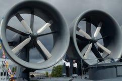 En el festival de buques de guerra Foto de archivo libre de regalías