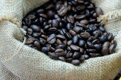 En el foco selectivo de los granos de café asados abundancia imagenes de archivo