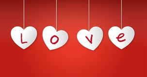 En el fondo rojo, en el corazón, las palabras del amor libre illustration