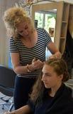 En el hairdersser Imágenes de archivo libres de regalías