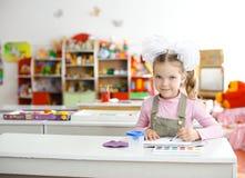 En el jardín de la infancia Fotografía de archivo