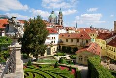 En el jardín de Vrtba en Praga Foto de archivo