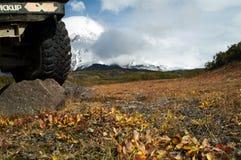 En el jeep a vulcan Fotos de archivo libres de regalías