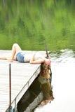 En el lago Foto de archivo
