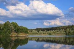 En el lago Baggersee Foto de archivo