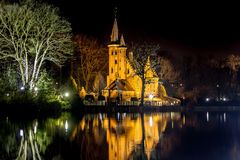 En el lago love en la noche Fotos de archivo libres de regalías