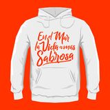 En el mar la vida es mas sabrosa - At sea life is more tasty spanish text, Traditional Latin phrase. Hoodie print design template, vector illustration - eps Royalty Free Stock Image