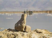 En el mar muerto Fotos de archivo libres de regalías