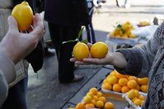 En el mercado Fotografía de archivo libre de regalías