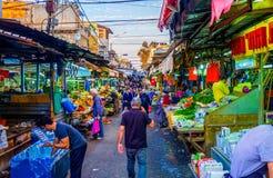 En el mercado de Carmel imagen de archivo