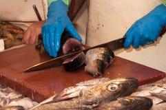 En el mercado de pescados Imagen de archivo