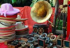 En el mercado de pulgas Imagenes de archivo