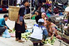 En el mercado de Vietnam Imagen de archivo libre de regalías