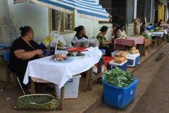 En el mercado del alimento Foto de archivo