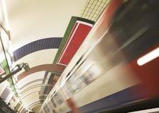 en el metro Imagen de archivo libre de regalías